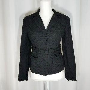 Cabi Black Eyelet Flamenco Jacket #5293 Size 4